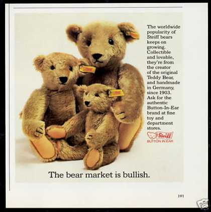 Steiff Bear Market is Bullish Photo (1982)
