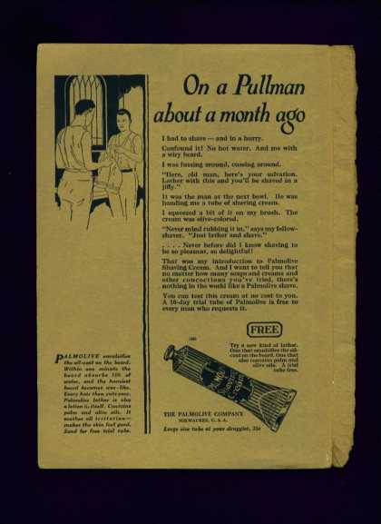 Palmolive Shaving Cream Ad On a Pullman (1922)