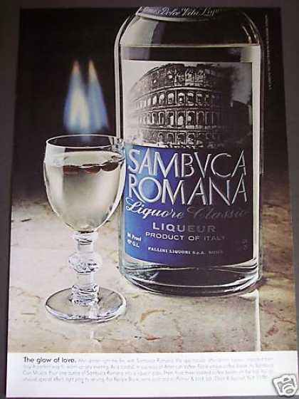 Sambuca Romana Liqueur On Fire Photo Original (1976)
