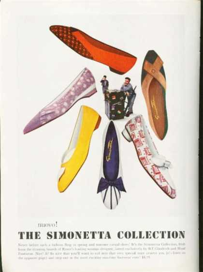 Simonetta Shoe Collection Form Rome (1962)