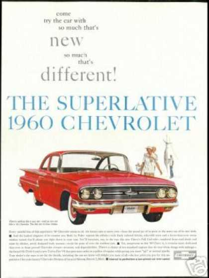 Red Chevrolet Bel-Air 2 Dr Sedan Vintage (1960)
