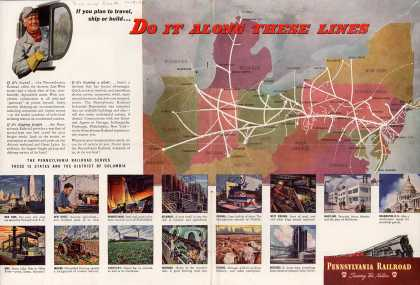 Pennsylvania Railroad – Do It Along These Lines (1946)