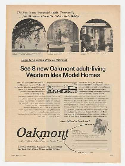 Oakmont Western Idea Homes Santa Rosa CA (1968)