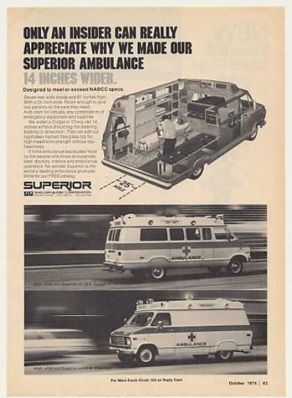 Superior Dodge Chevrolet Ambulance (1974)