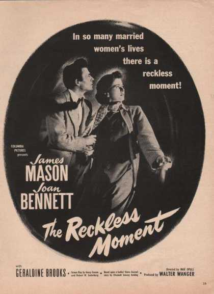 Reckless Moment James Mason Joan Bennett A (1949)