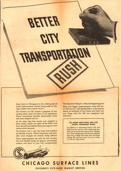 Chicago Surface Line's Better City Transportation – Better City Transportation (1945)