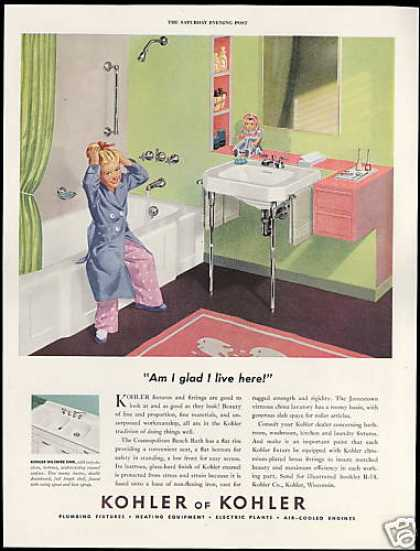 Kohler Bathroom Fixtures Cute Girl Doll (1950)