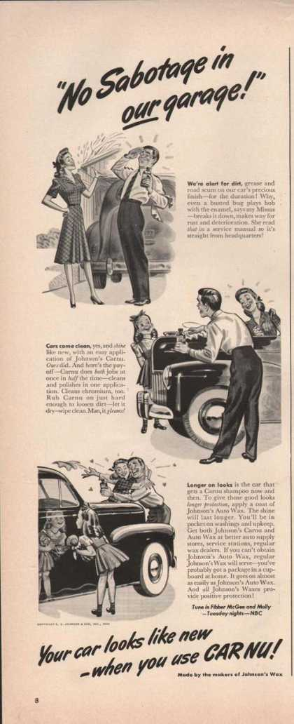 Johnsons Wax Car Nu Cleaner (1942)