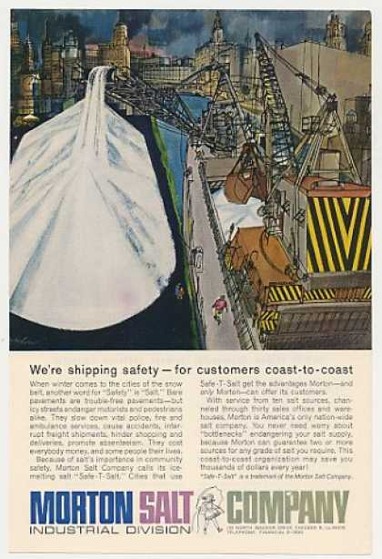 Morton Salt Shipping Safety Safe-T-Salt (1962)