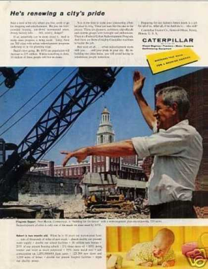 "Caterpillar Tractor Ad ""He's Renewing A... (1959)"