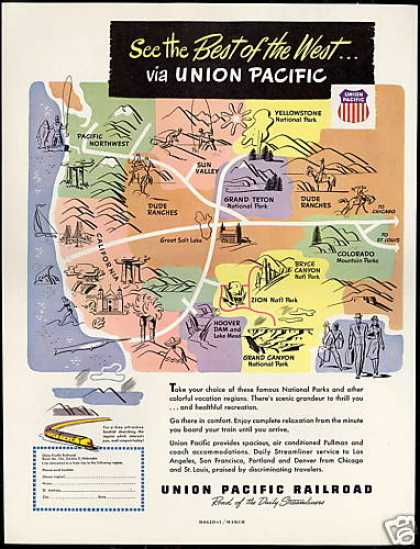 Union Pacific Railroad Train Best of West (1948)