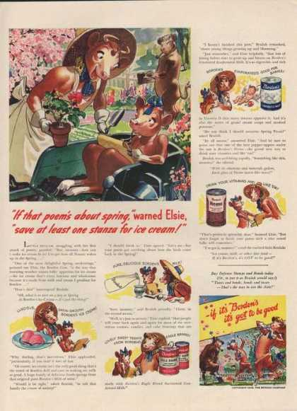 Bordens Eagle Brand Condensed Milk (1942)