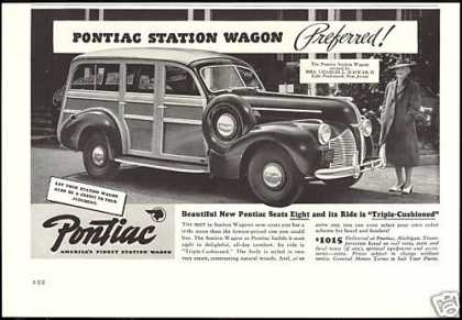 Pontiac Station Wagon Contrasting Wood (1940)