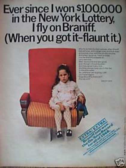 Braniff Airlines W/ Little Girl (1969)