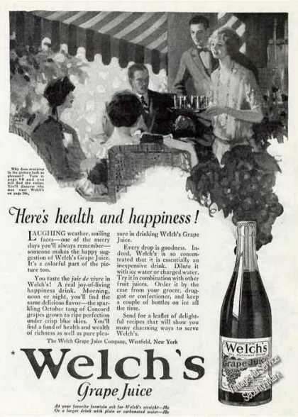 "Welch's Grape Juice ""Here's Health & Happiness"" (1924)"