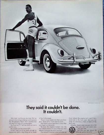 Volkswagen Beetle Bug Wilt Chamberlain Couldn't Be (1966)