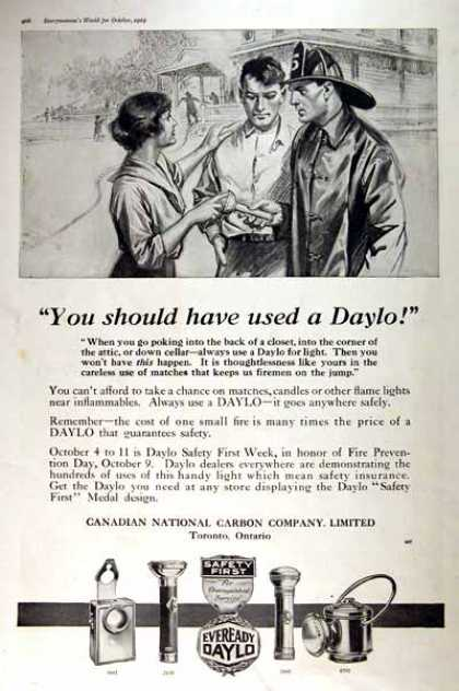 Eveready Daylo Flashlights (1919)