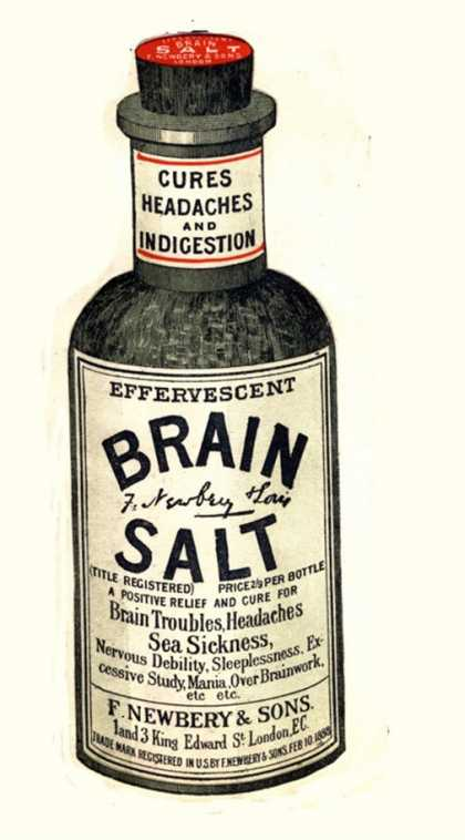 Brain Salt Headaches Humour Medicine, UK (1890)