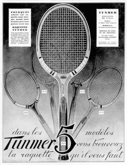 Tunmer Tennis Rackets (1928)