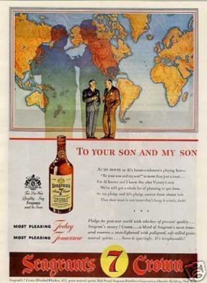 "Seagram's 7 Crown Whiskey Ad ""Tou Your Son... (1944)"