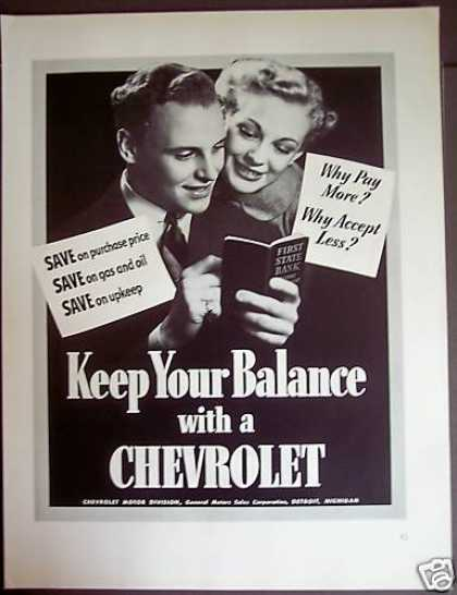 Original Gm Chevrolet Young Couple (1941)