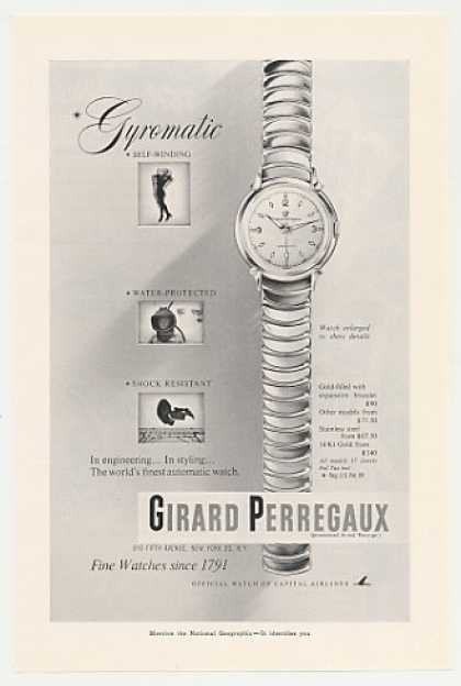 Girard Perregaux Gyromatic Watch (1953)