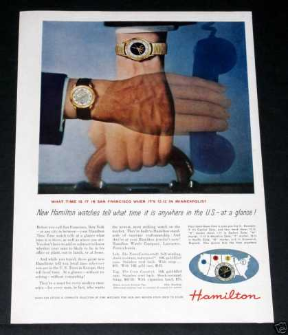 Hamilton Watches, Continenta (1956)