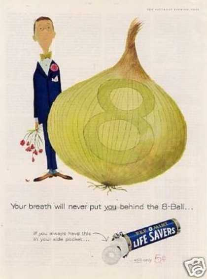 Life Savers Candy Ad 'your Breath Will Never... (1960)