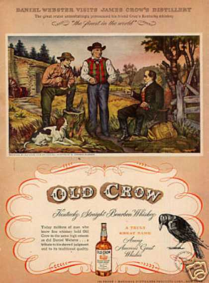 "Old Crow Whiskey Ad ""Daniel Webster Visits... (1949)"