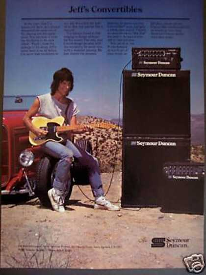 Jeff Beck Photo Seymour Duncan Guitar Amps (1987)