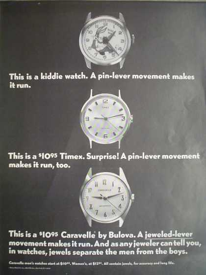Caravelle Watch by Bulova jeweled lever movement (1968)