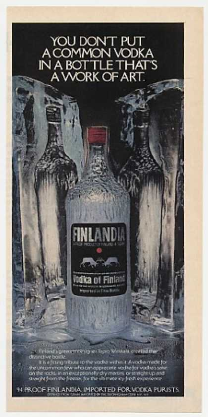 Finlandia Vodka Tapio Wirkkala Bottle Design (1977)