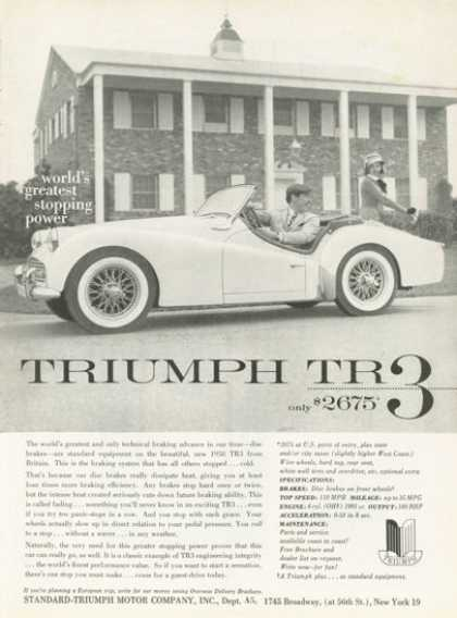Triumph Tr-3 Sports Car $2675 (1958)