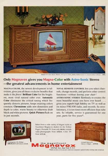 Magnavox Television Model 575 +2 Others (1965)