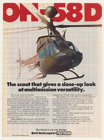 Bell OH-58D Military Scout Helicopter (1986)