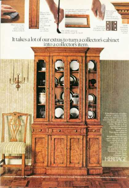 Heritage Colectors Cabinet Furniture (1972)