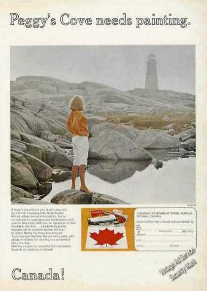 Peggy's Cove Needs Painting Nova Scotia Travel (1966)