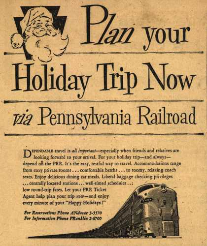 Pennsylvania Railroad – Plan your Holiday Trip Now via Pennsylvania Railroad (1954)