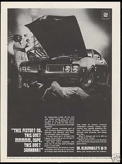 Dr Oldsmobile Cutlass S W-31 W31 Car Vintage (1969)