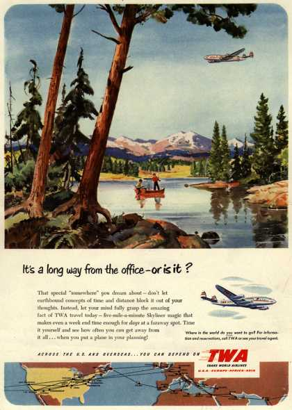 Trans World Airline – It's a long way from the office- or is it? (1951)