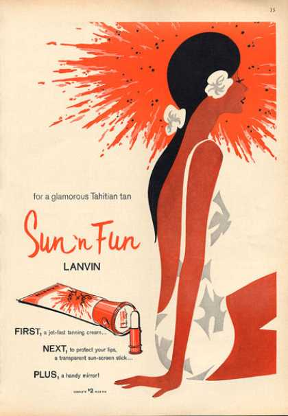 Lanvin Sun 'n Fun Fashion Nice Art (1963)