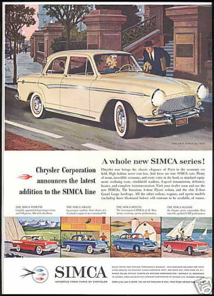 Chrysler Simca Car 5 Models Vintage (1959)