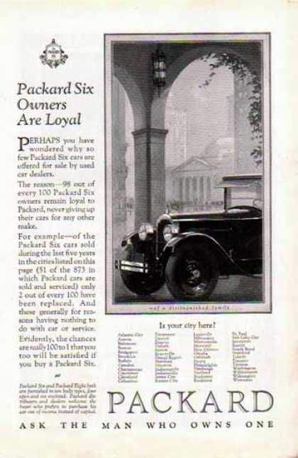 Packard Six Car – Owners Are Loyal (1925)