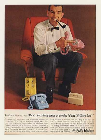 Fred MacMurray My Three Sons Pacific Telephone (1963)