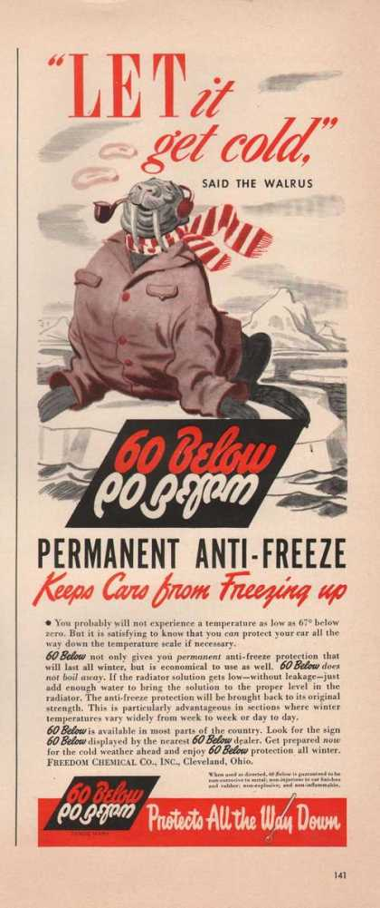 60 Below Permanent Anti Freeze (1942)