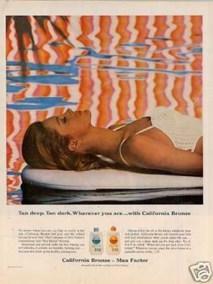 Max Factor California Bronze Tan Lotion (1964)