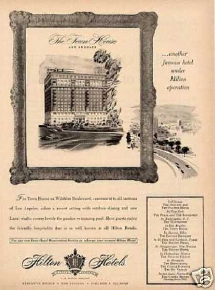 Hilton Town House Hotel Ad Los Angeles (1949)