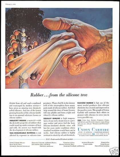 Silicone Rubber Atoms Hand Union Carbide (1956)