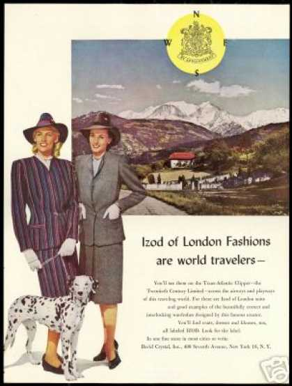 IZOD Izod Woman Fashion London Dalmatian Dog (1946)
