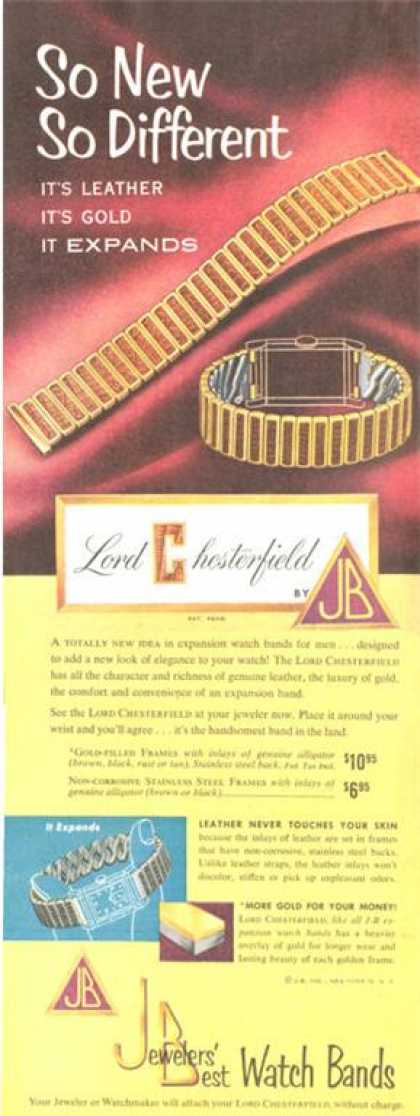 Jewelers Best Lord Chesterfield Watch Band (1952)